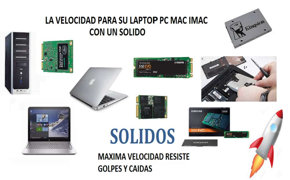 Discos Solidos Ssd 2.5 M2 M.2 Msata 120gb 49 240gb 65 500gb 155 1Tb 254 Velocidad luz Macbook Imac Pc Laptop