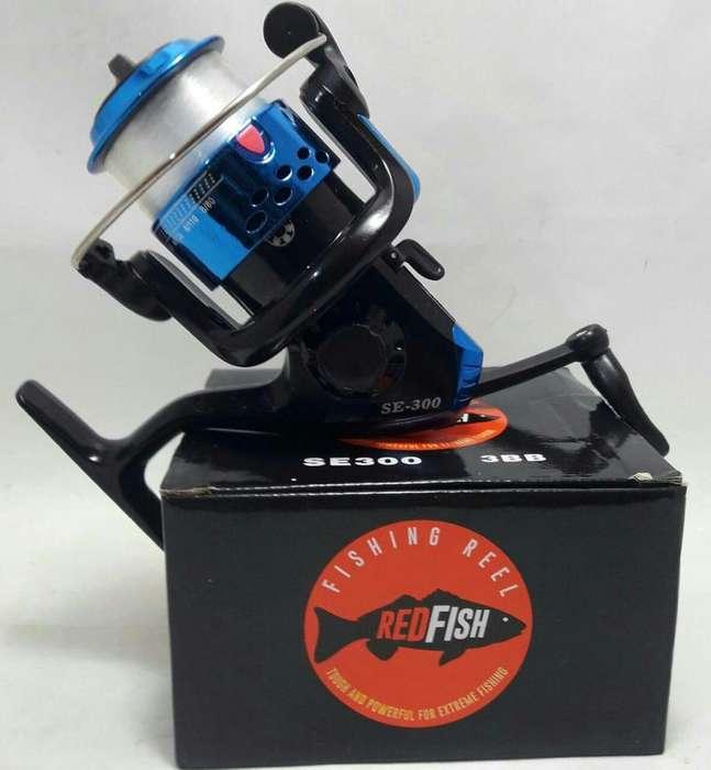 Reel Red Fish Se300 Ideal Para Pejerrey Con Carga Incluida