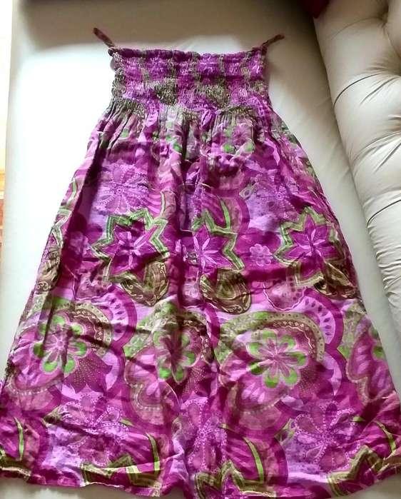 Opción Pollera O Vestido Strapless
