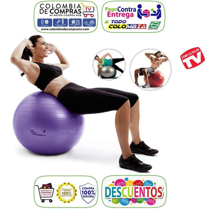 Balón Pilates Tv Yoga Grande 85 Cm Profesional Gimnasio Nuevos, Originales, Garantizados.