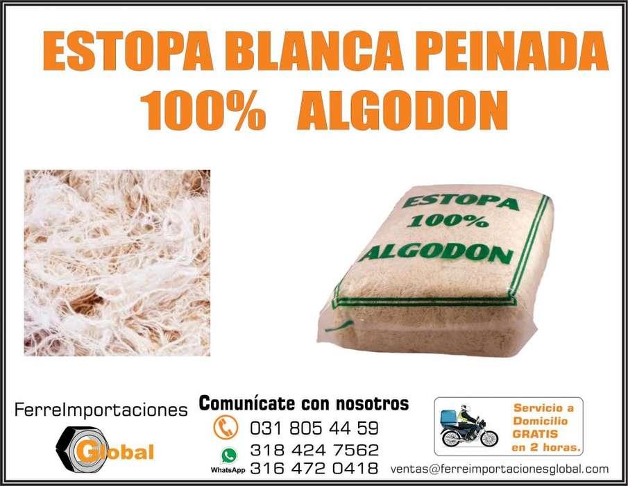 ESTOPA BLANCA PEINADA 100% ALGODON X KILO O BULTO DOMICILIO PBX 031 805 4459 MOVIL WHATSSAPP 318 4247562