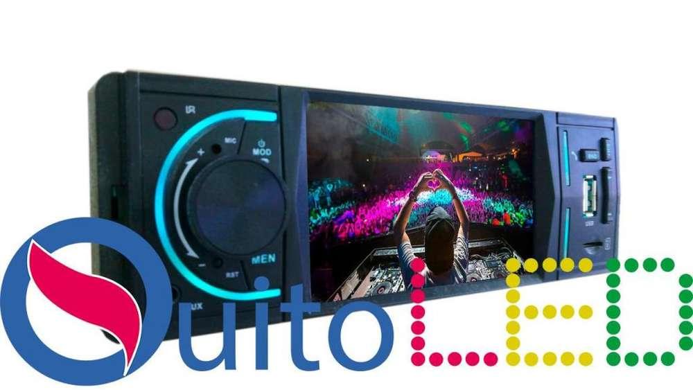 Radio Mp5 1 Din Pantalla 4 pulgadas Bluetooth con entradas USB, Micro SD Quitoled