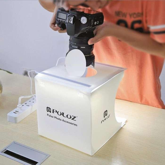 PULUZ 2LED Mini caja de <strong>estudio</strong> de la foto 1100LM, con 6 fondos