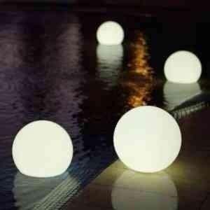 Esfera Flotante Led 20cm Con Pilas Cambiables