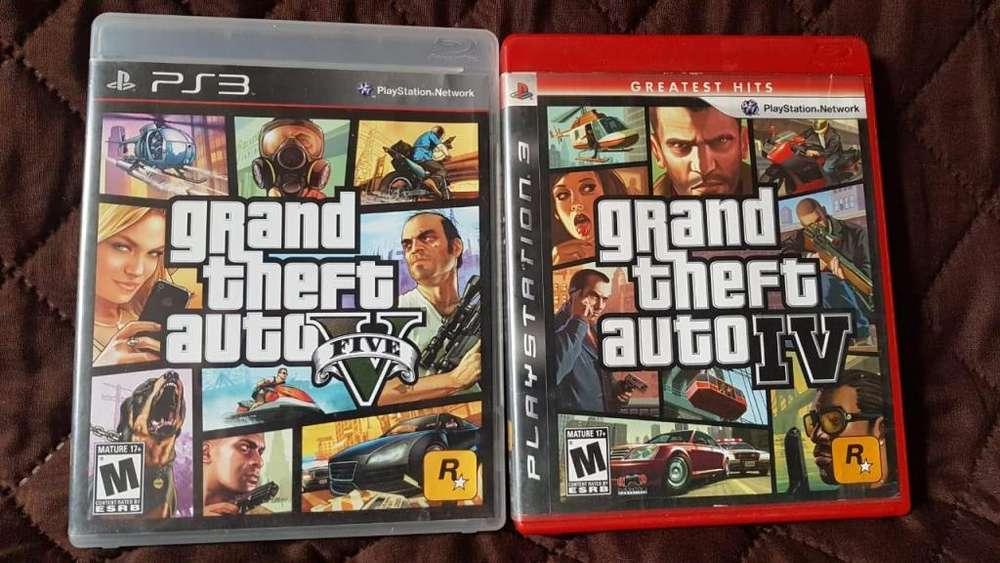 Ps3 Playstation 3 Colección GTA 5 GTA 4 Oferta De la Semana