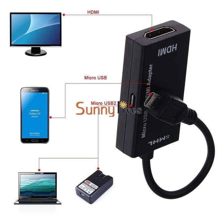 Adaptador de MHL Micro USB a HDMI 1080P HDTV Cable Para Samsung Sony LG HTC Huawei