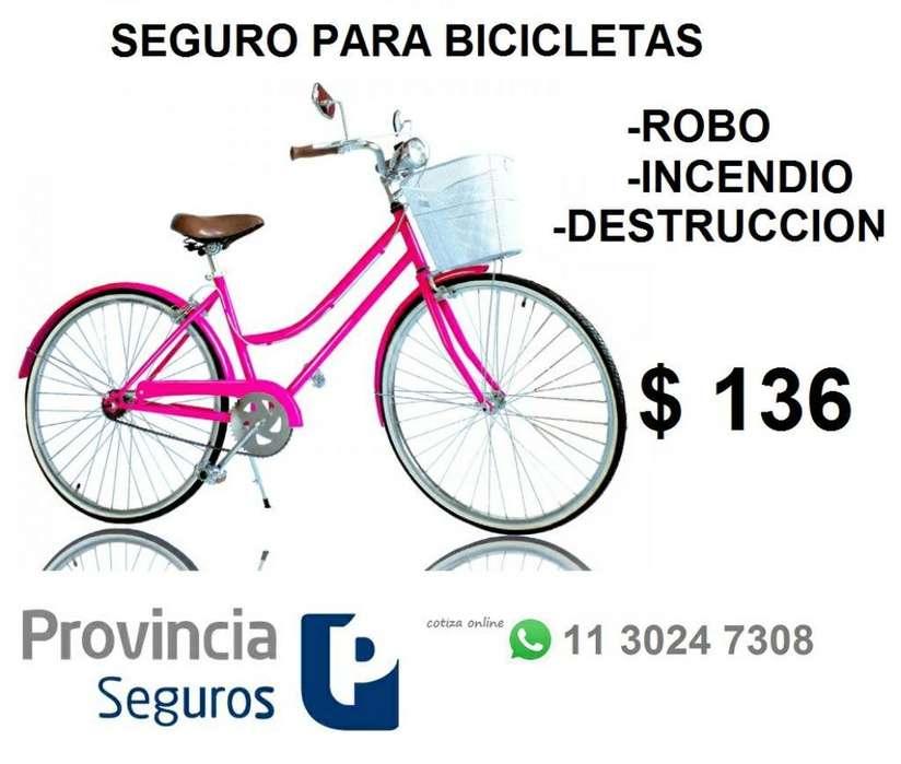 Seguro Bicicletas robo Daños Incendio