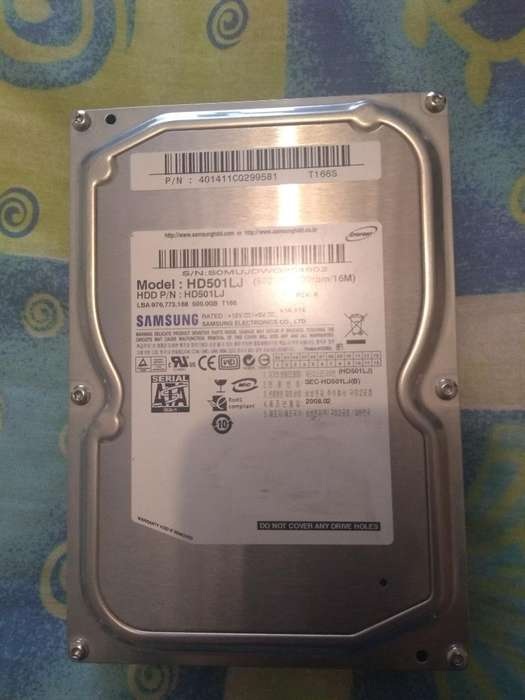 Vendo Disco Duro Interno Samsung 500gb