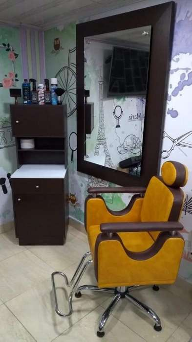 muebles para Barberia , peluqueria o salon de belleza usados como nuevos