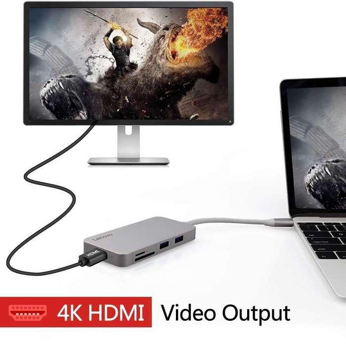 Adaptador Lenovo 7en1 Usbc 4k Hdmi Para Huawei Mate 20 P20 Pro*_Tienda_C. Comercial_*