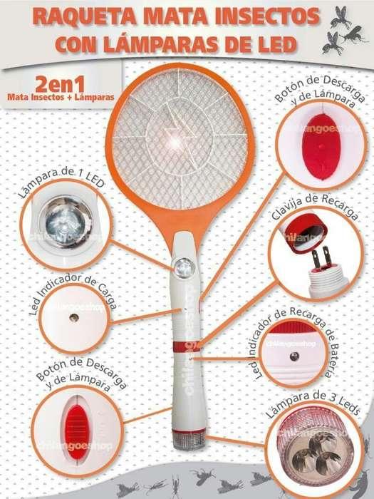 Raqueta Mata Mosquitos con Linterna