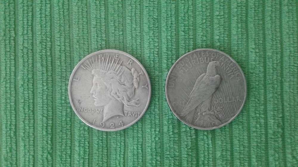 Moneda Estados Unidos de America de 1 Dlar ao 1923 y 1924