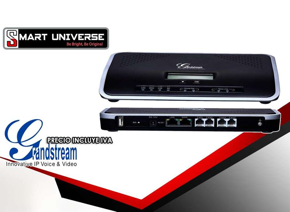 Central Telefonica Ip GRANDSTREAM UCM6202 2fxo 2fxs