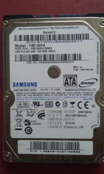 Disco Duro (Usado) para Laptop / Capacidad 160GB / Perfecto Estado