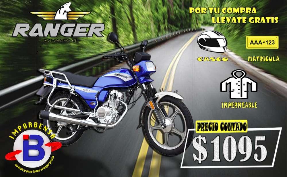 MOTO RANGER 150-GY.. CASCO, MATRICULA, IMPERMEABLE.. IMPORTADORA BENAVIDES.. SANTO DOMINGO