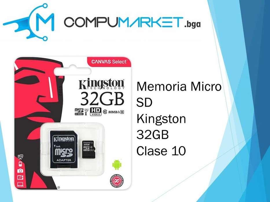 Memoria micro sd kingston 32gb clase 10 nuevo y facturado