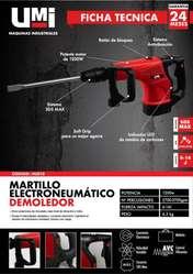 MARTILLO DEMOLEDOR UMI PROFESIONAL 1200W 14J SDS MAX ENVIOS GRATIS