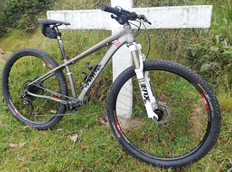 Bici monoplato fox Marin rin 29, lista para Nudpud