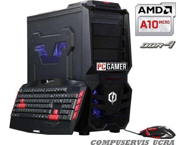 Pc Armada Gamer Amd AM4 X4 Apu A10 9700 4.0Ghz Ati R7 Gpu Hdmi 8Gb_Ddr4 2400Mhz 1Tb Gtia