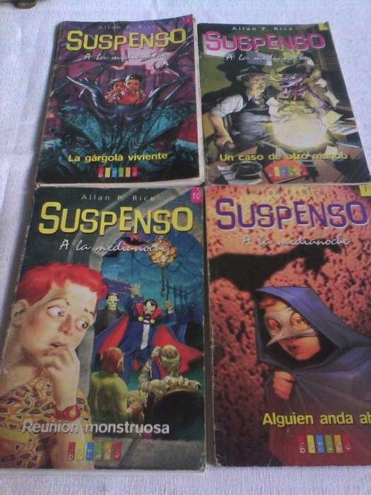 4 libros de la Colección suspenso 80