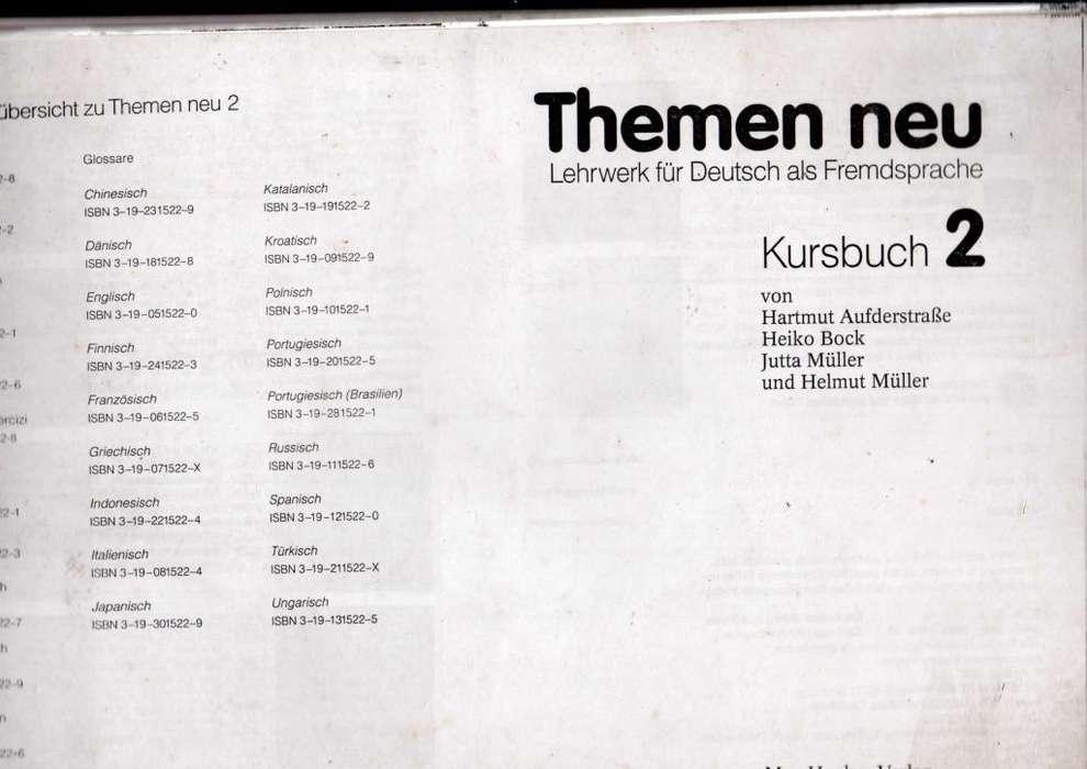 Themen neu 2 Kursbuch usado en buen estado.