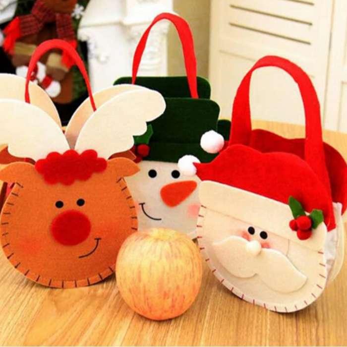 Bolso Navidad Accesorios Regalo Dulces Cartas Decoración