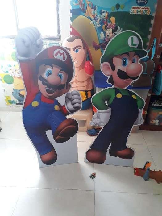 Mario Y Luigi en Madera