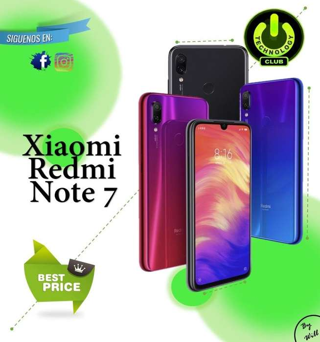 Xiaomi Redmi Note 7 modelo exclusivo 2019 colores Celulares sellados Garantia 12 meses