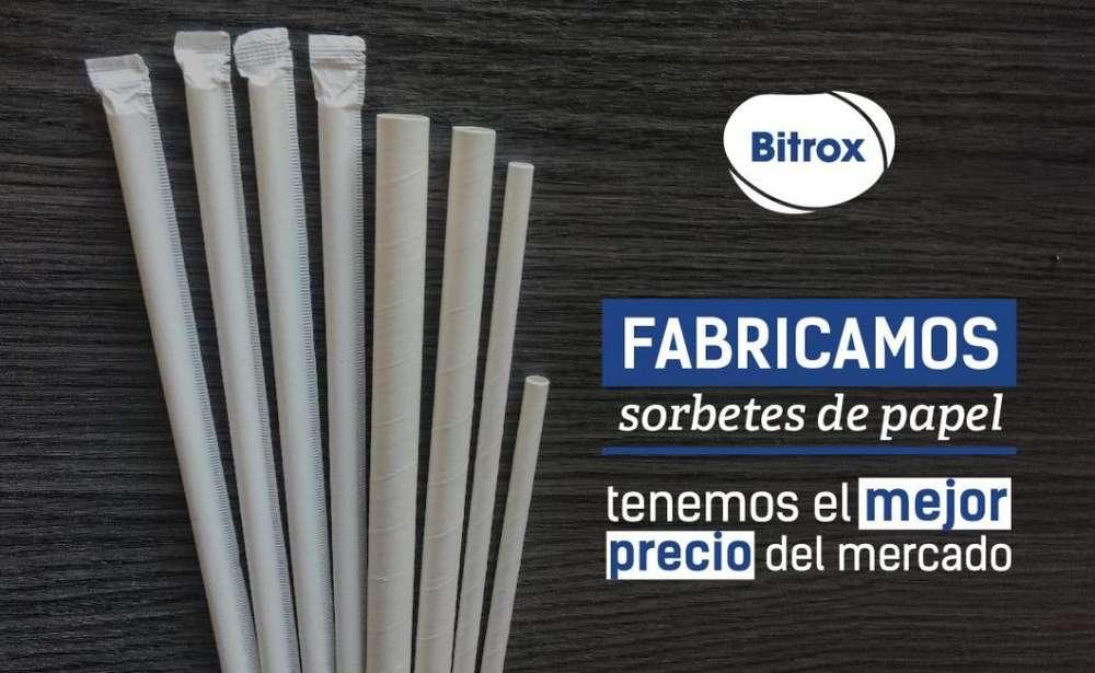 fabricante de sorbetes de papel
