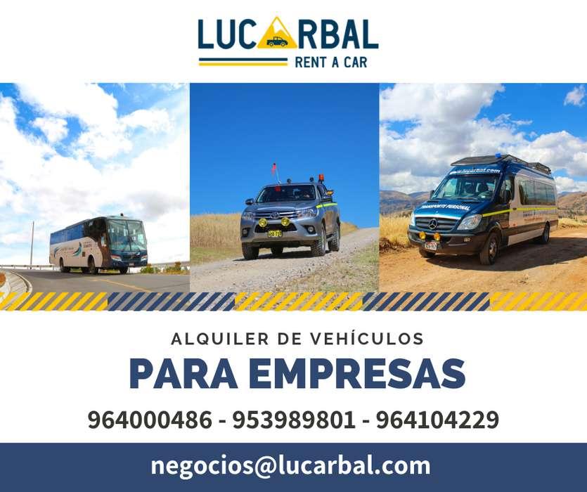 Alquiler de camionetas, buses y camiones en Yauli La Oroya