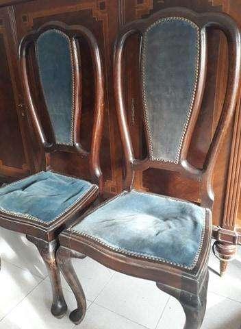 <strong>juego</strong> de 6 sillas de estilo, con respaldar alto