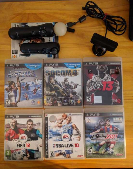 Kit Move PS3 y juegos