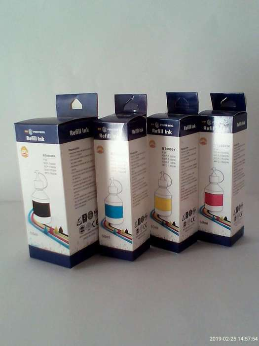 Tinta Brother Series T300/500/700/800 (100 ml) todos los colores