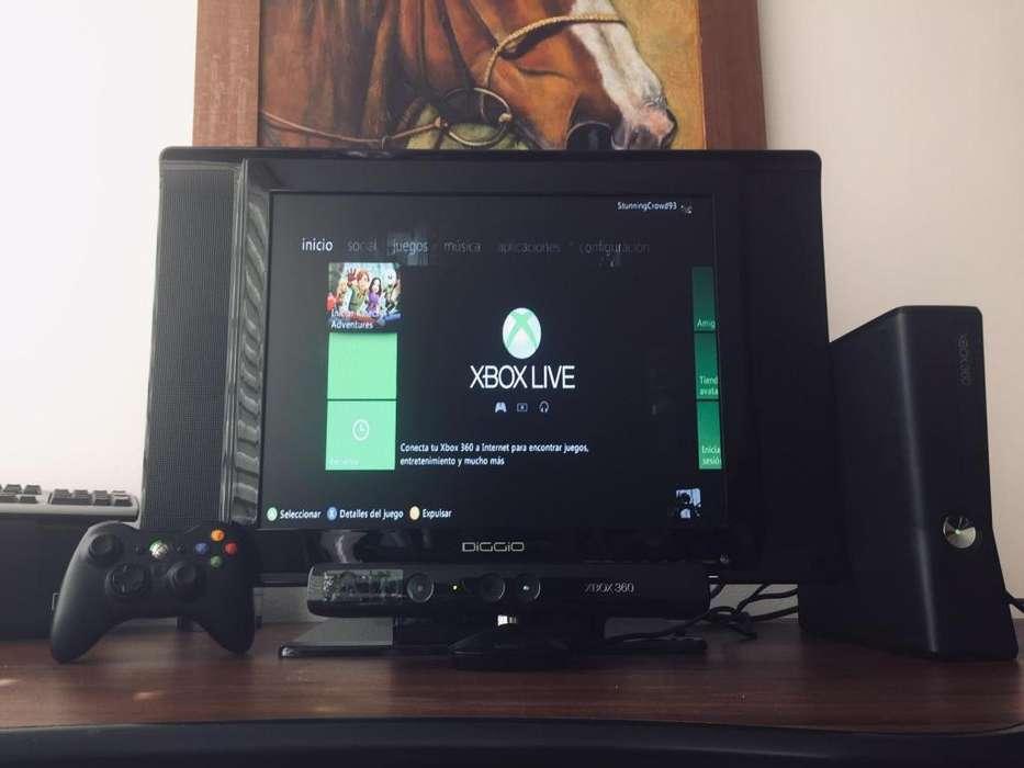 Xbox 360 Slim con Kinect Televisor LCD