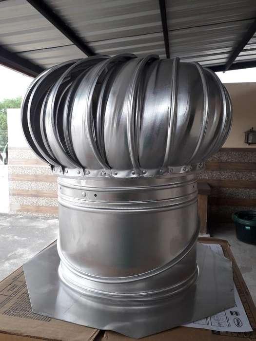 Extractor de Viento De12'' de Aluminio