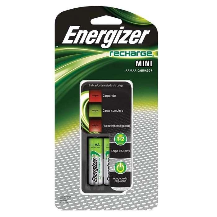 Cargador de Pilas Energizer 220V. Incluye 2 pilas AA. Original. NUEVOS!