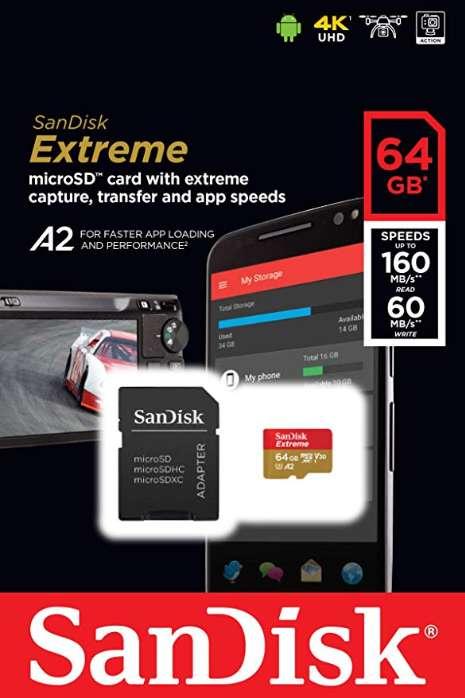 MEMORIA MICRO SD-Sandisk Extreme 64 Gb A2