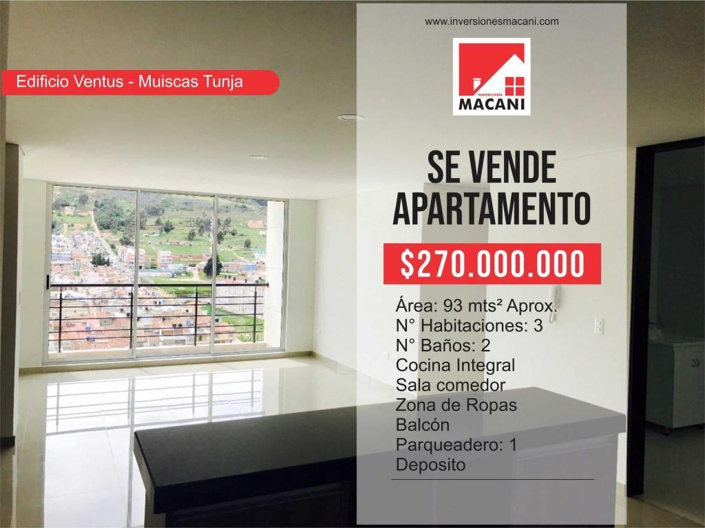 Se Vende Apartamento Edificio Ventus - Muiscas Tunja