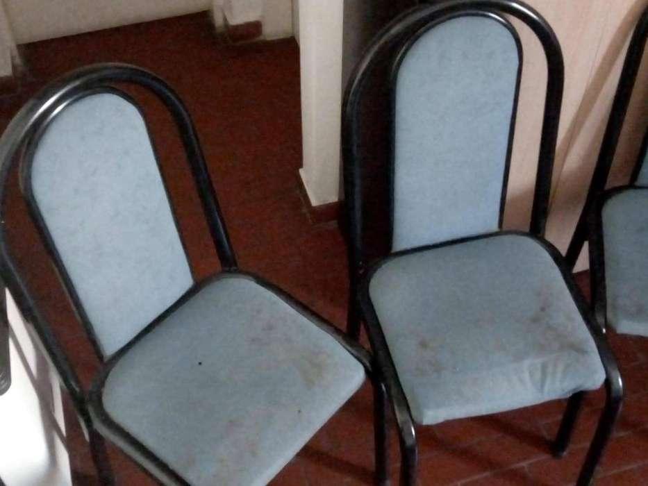 REMATO TRES <strong>silla</strong>S DE CAÑO, DE PANA AZUL PARA RESTAURACIÓN