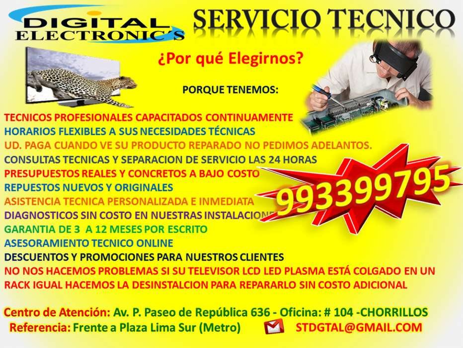REPARACION DE LCD PLASMA LED LCD SAMSUNG SONY LG AOC SERVICIO TECNICO EN SURCO MIRAFLORES SAN BORJA