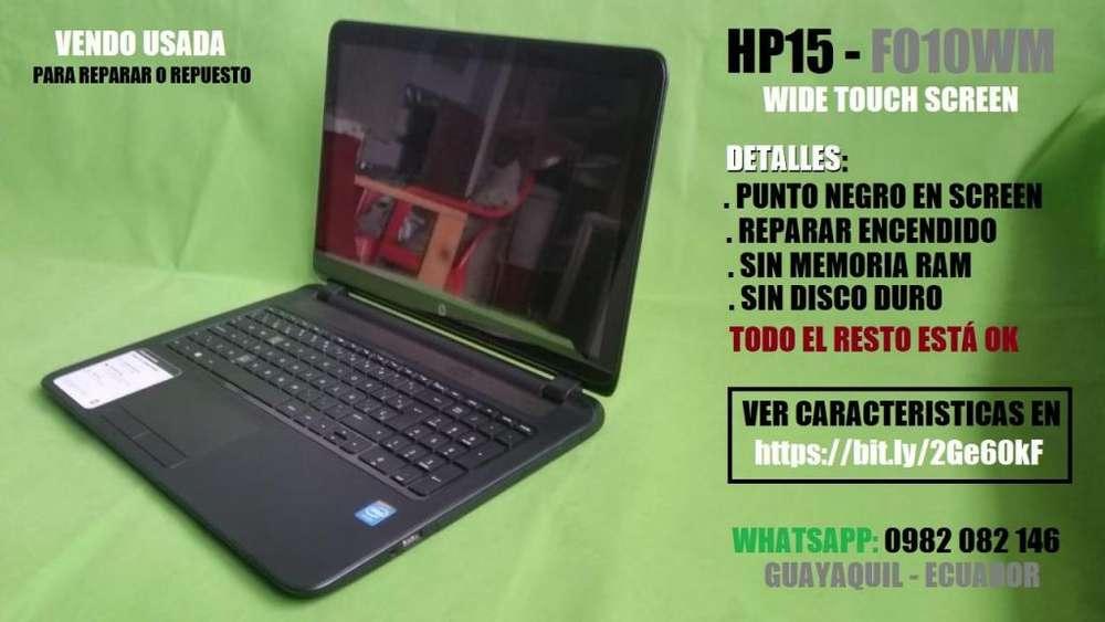 LAPTOP HP15 F010WM USADA