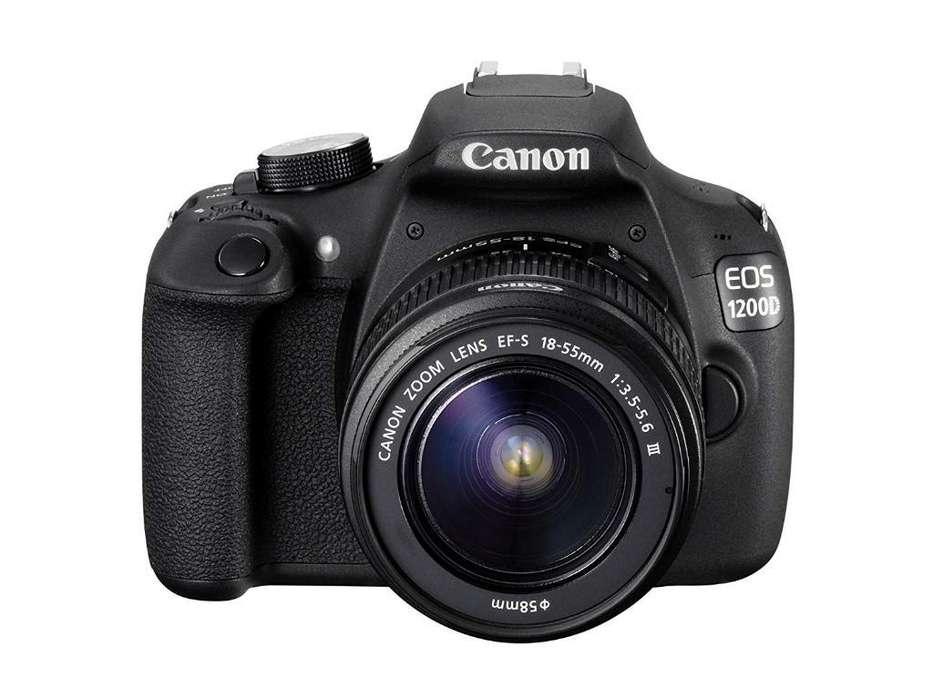 Camara Digital Canon 1200 T5 con Lente
