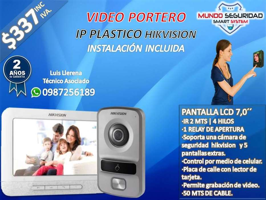 <strong>video</strong> portero IP plastico