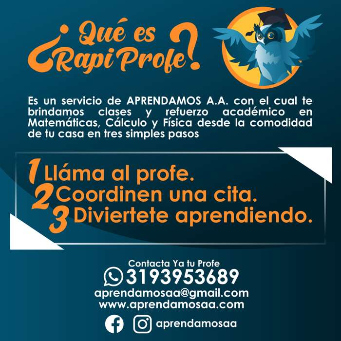 Clases a domicilio matemáticas, cálculo, química, física, estadística, inglés. WApp 3193953689. Trabajos y taller