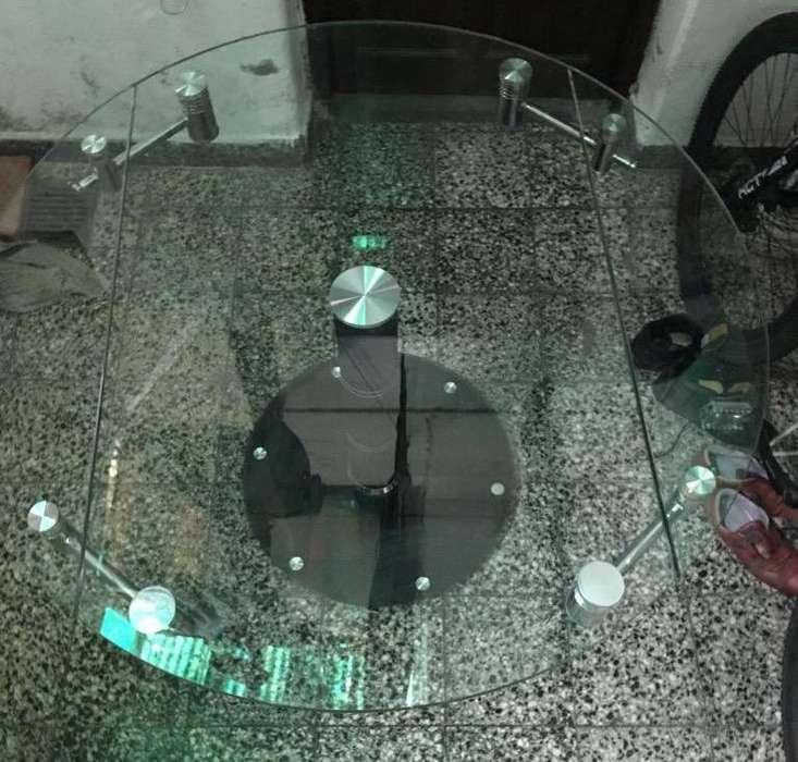 Mesa Redonda Extensible Minimalista