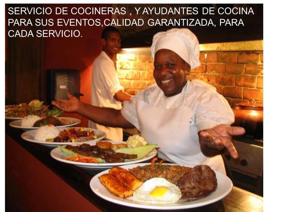 COCINERAS Y AYUDANTES DE COCINA CALIDAD Y SERVICIOS GARANTIZADOS