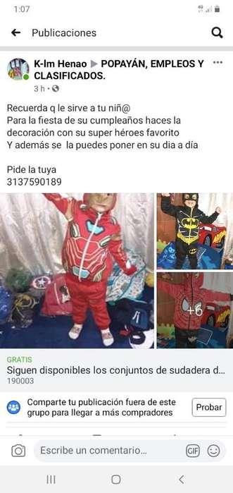 Disponibles Sudadera Super Héroes