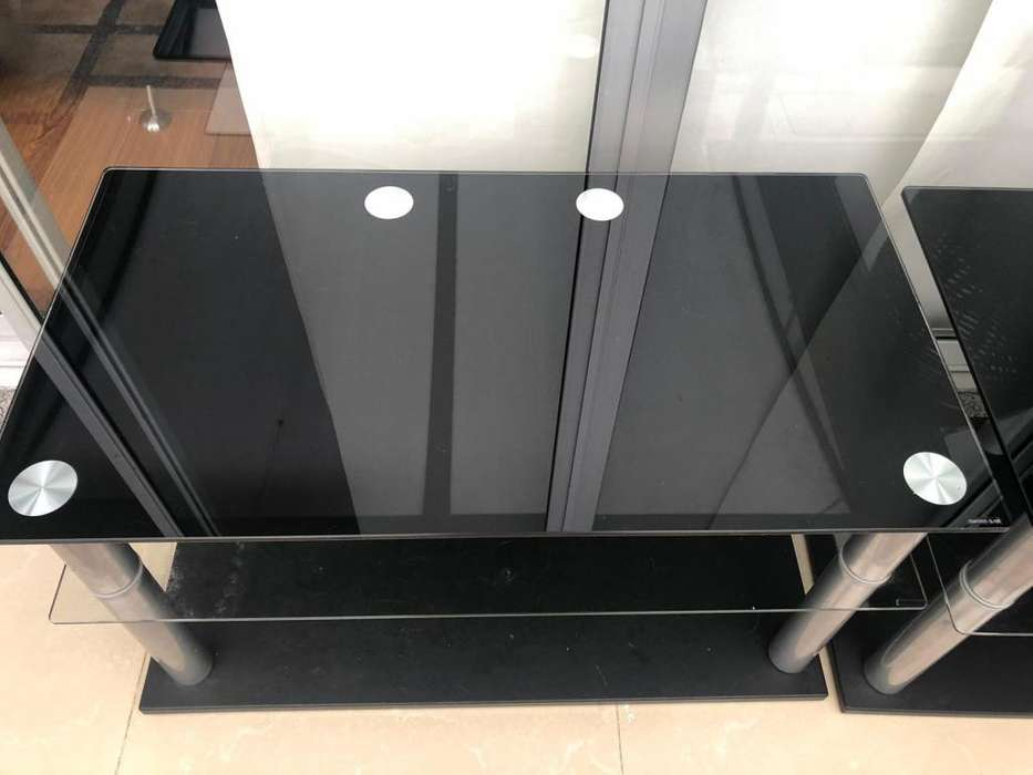 Mesas tv en vidrio templado
