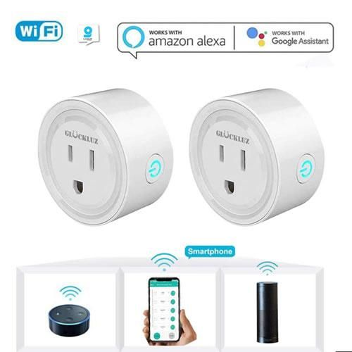 Enchufe conector inteligente Smart Plug Glückluz WiFi 2.4G Alexa y Google