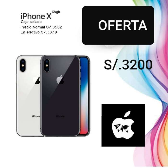 iPhone X 64gb Libre Mundial Sellado
